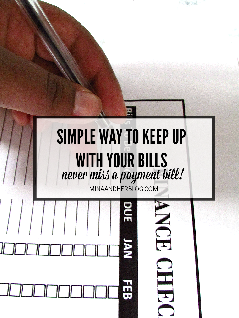 Simple way to keep up with your bills pretty organized life for Minimalist living what to keep