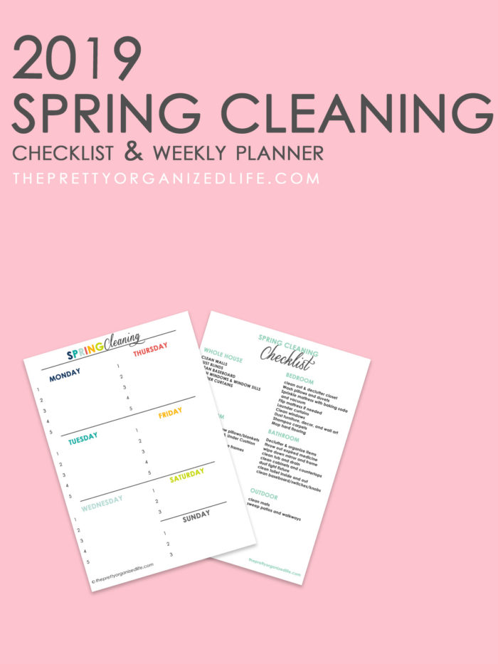 photograph relating to Spring Cleaning Checklist Printable known as 2019 Spring Cleansing Listing - The Fairly Geared up existence